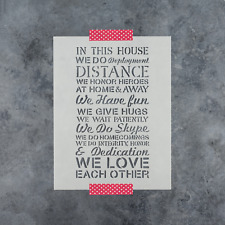 Military House Rules Stencil - Durable & Reusable Mylar Stencils