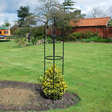 1.9m Black Metal Garden Obelisk Plant Support Frame Outdoor Trellis Pyramid Tall