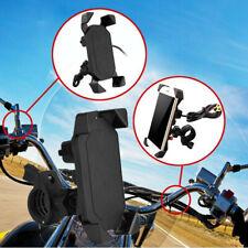 "3.5-7"" Motorcycle Bike Phone Mount Bracket USB Charger Socket Mobile Holder Kit"