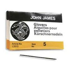 25 SIZE FIVE (#5) John James English GLOVERS NEEDLES- Perfect for Leather!