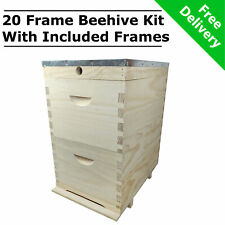 10 Frame Double Beehive Kit 20 x Frames Bee Box NZ Pine Timber Bee Hive Wooden
