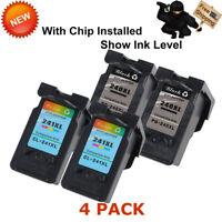 4 PK PG 240XL Black CL-241XL Color Ink Cartridges for Canon PIXMA MG MX Series