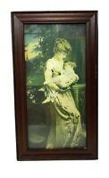 Antique Victorian Colorized Photo of Mother and Child