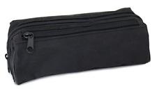 Fashion Stationery Black Back to School Boys Bootbag 2 Zip Pencil Case