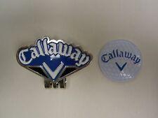 Golf Ball Marker Hat Clip CALLAWAY Blue/Black ~Japan