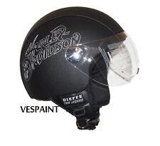 Casco Harley Davidson ecopelle visiera aviatore personalizzato in pelle s m l xl