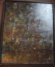 NYC MANHATTAN 42nd St Modern Expressionist Abstract Cityscape Oil Listed Artist