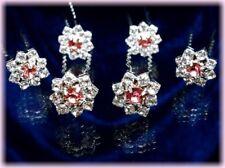 Accessoire mariage 6 Crochets pics épingles cheveux chignon cristal diadème