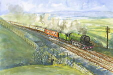 Flying Scotsman, Carlisle Settle - Signed, Titled and Mounted Print with COA