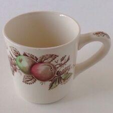 Johnson Brothers Harvest Time Coffee Mug Apples Grapes Hand Engraved England