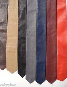 Leder Krawatte schmal diverse Farben Lederkrawatte leather neck tie