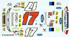 #17 Matt Kenseth Ford 2012 EcoBoost Roush 1/32nd Slot Car Decals