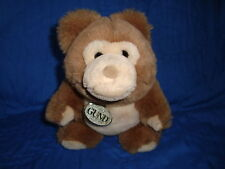 Gund Vintage Plush 1987 Bear Light Brown 9""
