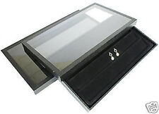2-24 Pair Earring Acrylic Lid Jewelry Display Case Tray