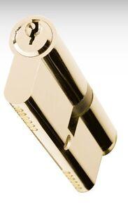 UPVC Euro Cylinder ANTI DRILL aluminium Door LOCK Barrel BRASS or NICKEL Finish