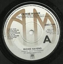 RICHIE HAVENS - I'M NOT IN LOVE /DREAMING AS ONE - 1976 - CLASSIC 70s POP BALLAD