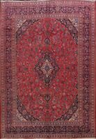 Traditional Hand-knotted Vintage Floral Kashmar Area Rug Wool Carpet 10'x13' RED