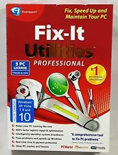 Avanquest Fix-It Utilities Professional Program Software 5 PC License New Sealed