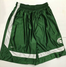 Vintage Nike Michigan State Spartans Ncaa Team Basketball Shorts Mens Size Large