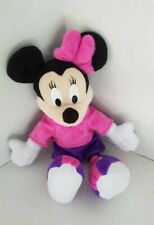 "Mattel Fisher Price Plush 12"" Minnie Mouse 2001  Pink Purple  Disney Plush Toy"