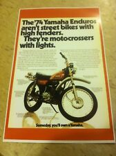 Vintage Yamaha Dt250 Dirtbike Poster Advertisement Man Cave Art Christmas Gift