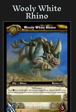 World of Warcraft TCG: Wooly White Rhino Loot Card (Brand New Unscratched)