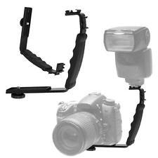 L-shaped Bracket Angle 2 Shoe Flash Bracket DV Tray Dual Hot Shoe DSLR Camera