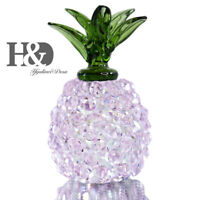 Glass Pineapple Collectible Ornament Cut Paperweight Table Centerpiece Figurine