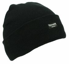 ISOLANT fin épais Bonnet en maille molleton thermique pour hommes femmes