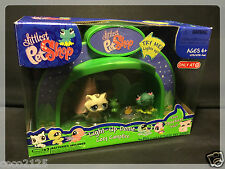 NEW Littlest Pet Shop Light Up Dome COZY CAMPFIRE 562 Frog 563 Cat w/ 1 FREE PET