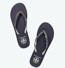 NIB Tory Burch Printed SM Clouded Leopard Flip Flops Sandals Size 8