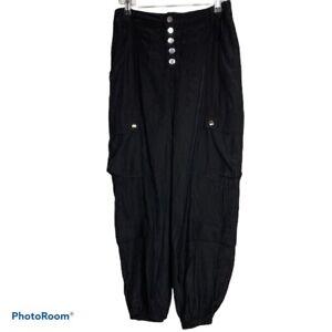 NWT Lioness Cypress Pants Black US 6 Medium Jogger Pockets