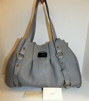 J. Crew Borge Garveri Gray Pebbled Leather Shoulder Bag $700rt