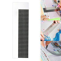 5D Diamond Painting Stainless Steel Ruler Blank Grids Round Full Drill Tool