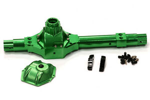 Integy C24453GREEN Billet Machined Complete Rear Axle Case for Axial 1/10 Wraith
