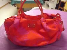"KATE SPADE-CARRY 18"" X 8""-BRIGHT PINK AND ORANGE"