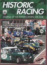 Historic Racing Magazine Hand Signed 5 Autographs F1.