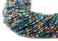 Translucent African Medley Afghani Tribal Seed Beads 2mm Afghanistan Multicolor