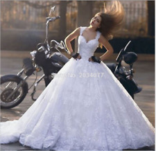 Sexy White/ivory high-quality Lace Backless Wedding Dress Bridal Gown Custom SZ