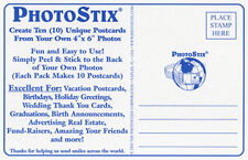"PhotoStix - Turn Your Standard 4"" X 6"" Photographs into INSTANT Postcards!"