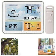 Weather Station Jumbo Display Clock Date Color Display Temperature Gadget New