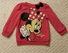 Disney Baby Girls 24 Month Sweater Hot Pink Minnie Mouse Pull Over - Fall Winter