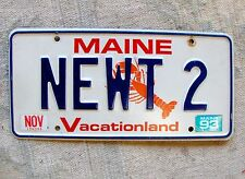 MAINE License Plate Tag - 1993 - NEWT-2 - Low Shipping