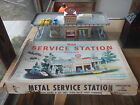 Vintage Marx toys # 3474 day nite service gas station / garage with box