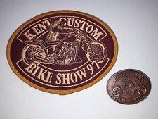 NEW Hells Angels Kent Custom Show 1997 Patch & Pin Badge - Bike Memorabilia