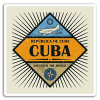 2 x 10cm Cuba Vinyl Stickers - Caribbean Travel Sticker Laptop Luggage #18102