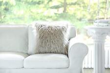 Phantoscope Set of 2 Beige Decorative Luxury Series Merino Style Fur Throw