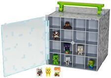 Minecraft Playset Toy Storage Carry Case Kids Video Game Accessory W/ 10 Figures