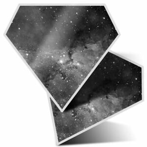 2 x Diamond Stickers 7.5cm BW - Galaxy Nebula Space Stars  #42911