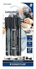 STAEDTLER Lumocolor Permanent Marker Set 60 punte BK-Set di 4